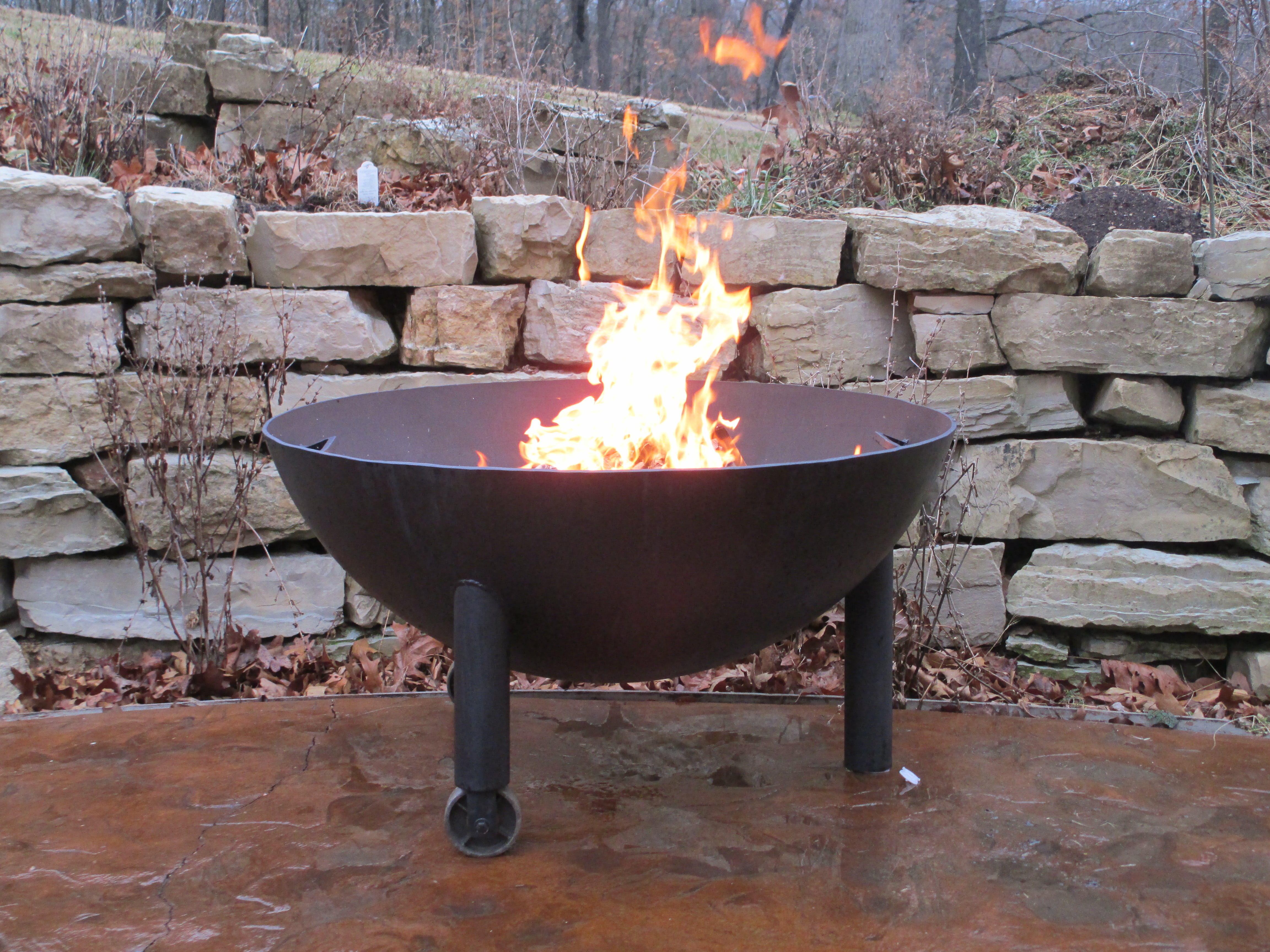 Iron Hollow Metals Custom Firepits From Up Cycled Materials